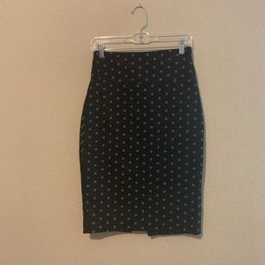 Express Black & White Floral Print Pencil Skirt